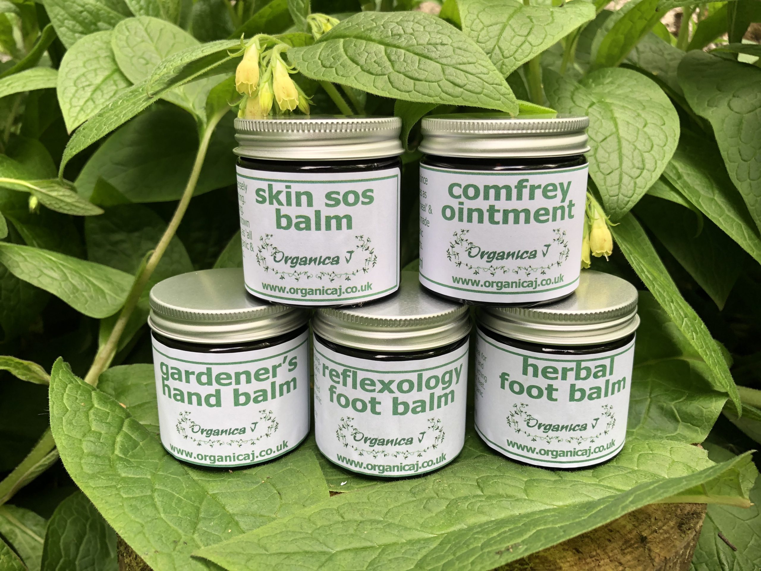 Comfrey Ointment and Organic Aromatherapy products