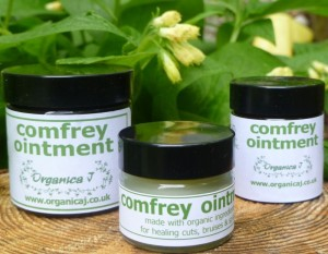 jars of comfrey ointment